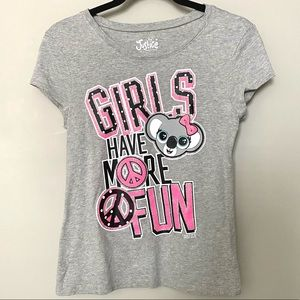 Justice Girls Have More Fun t-shirt